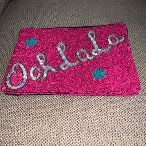 Handbags - Ooh La La Sequined Clutch Bag